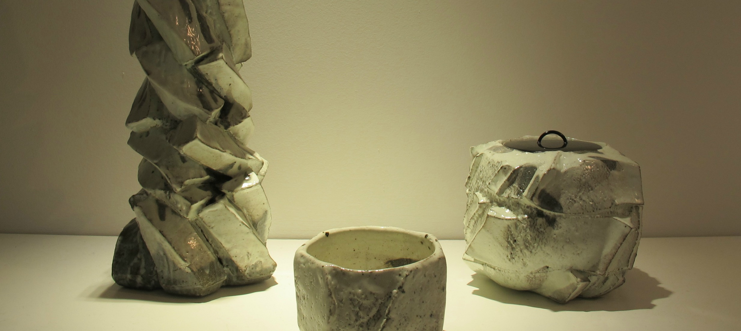 Ceramics by Shozo Michikawa, detail. Photo by Cristina Solano.