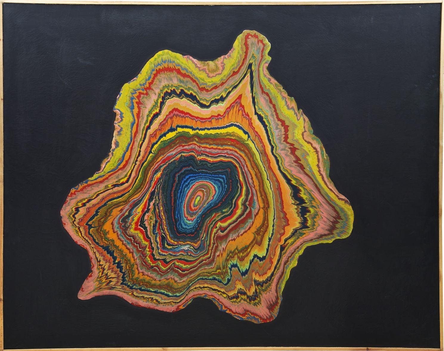 Black Whirpool, 1965, Shozo Shimamoto