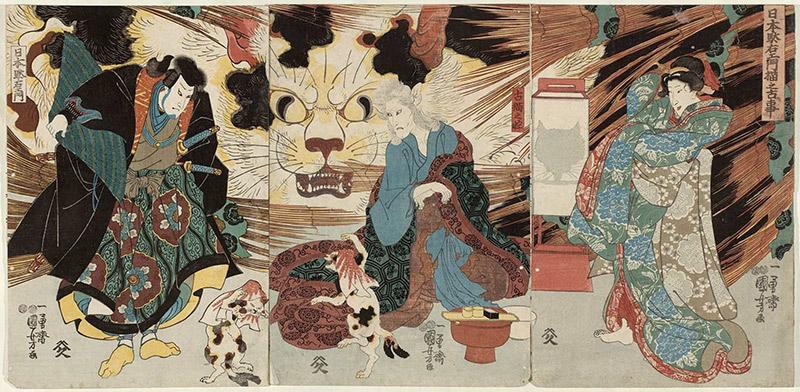 Cat-Witch-of-Okabe-UTAGAWA-KUNIYOSHI-2